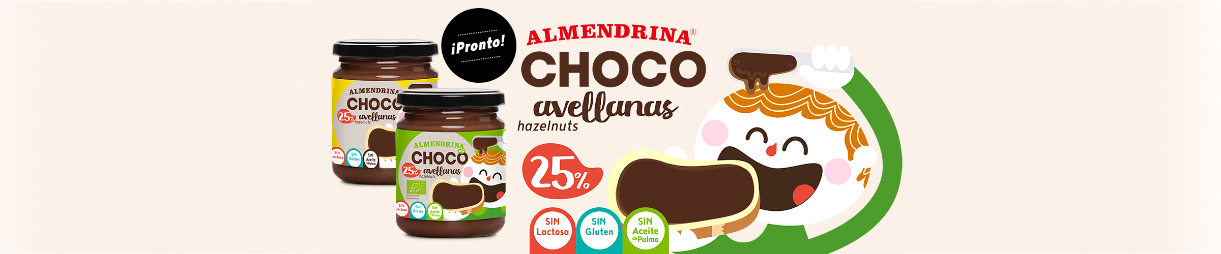 Crema de chocolate y avellanas de Almendrina